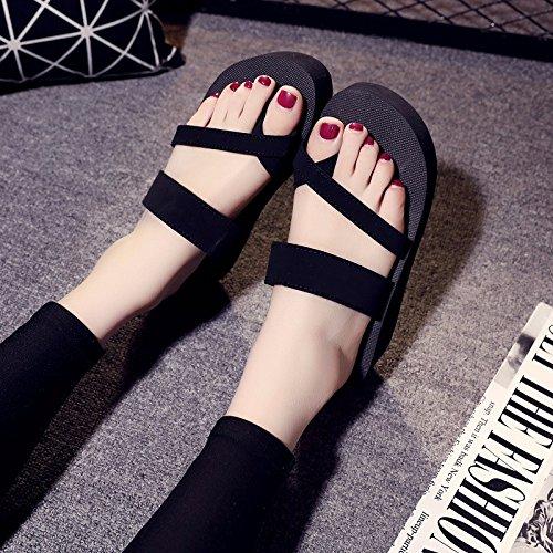 moda sandalias verano y zapatillas de zapatos Negro Heels zapatos Señoras High CY7TT