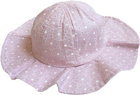 TeddyTs Girls Pink /& White Polka Dot Wide Brim Summer Sun Hat with Bow