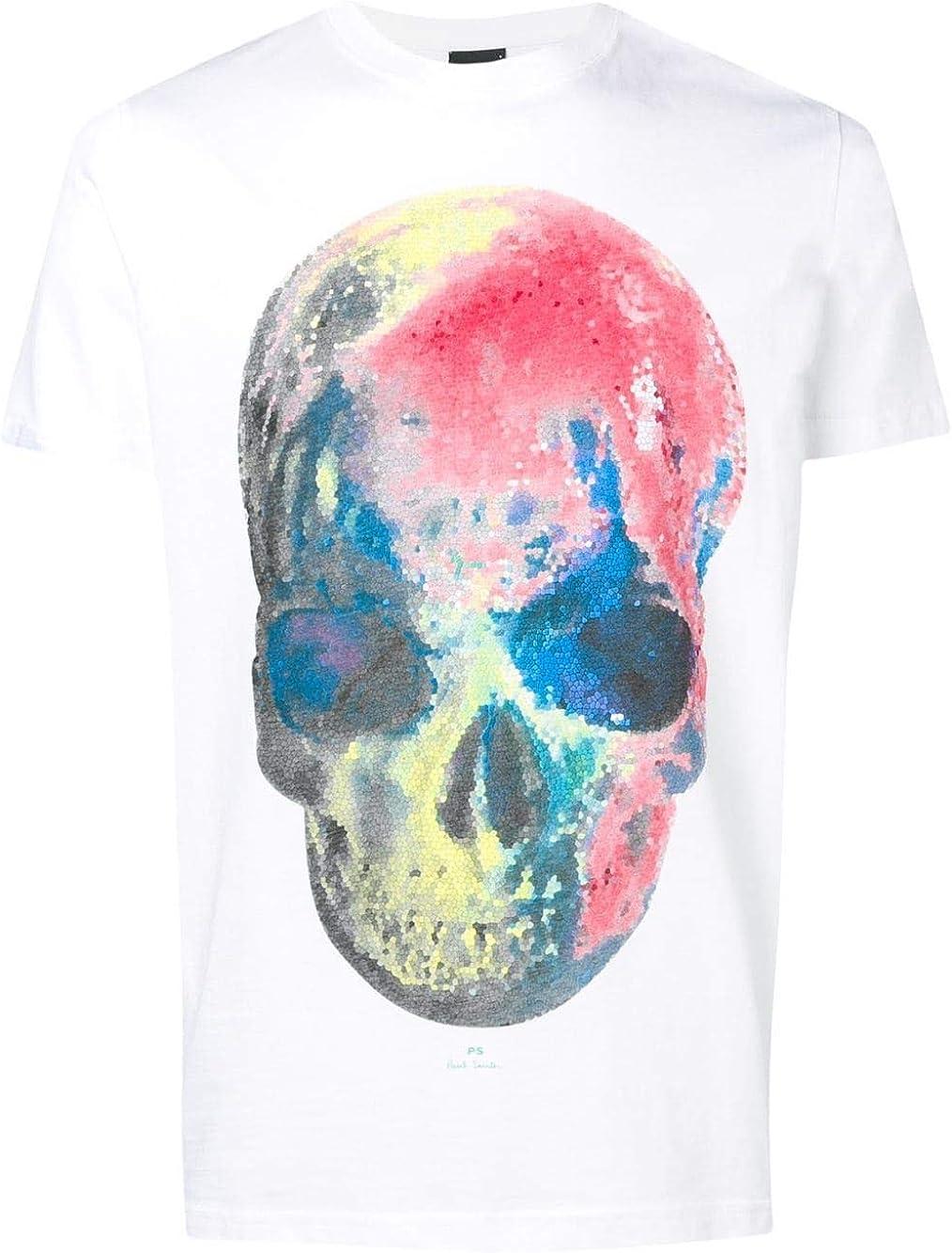 Paul Smith Luxury Fashion Hombre M2R010RAP112001 Blanco T-Shirt   Temporada Outlet: Amazon.es: Ropa y accesorios