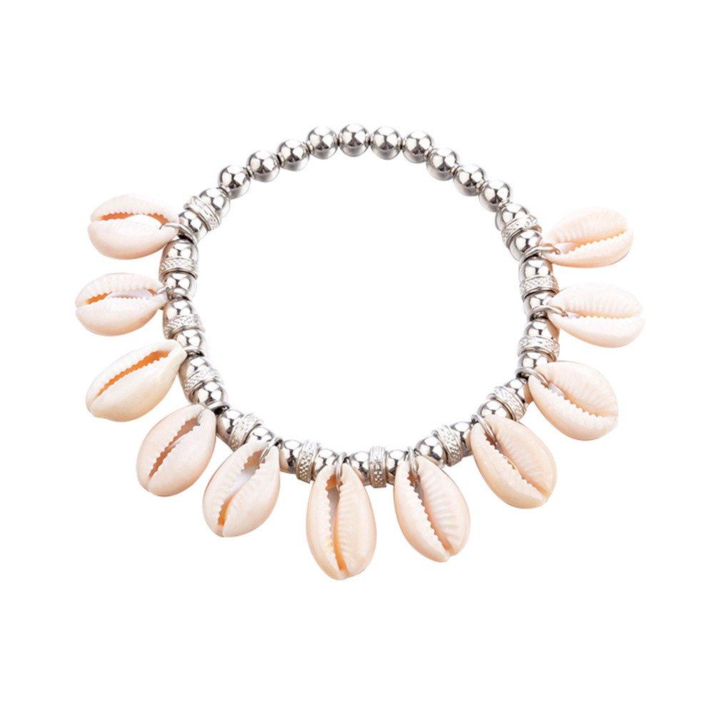 Lolittas Bracelet De Cheville De BohêMe De Coquillage De Coquille De Plage De Cowrie Et De Perles De Femmes De Femmes