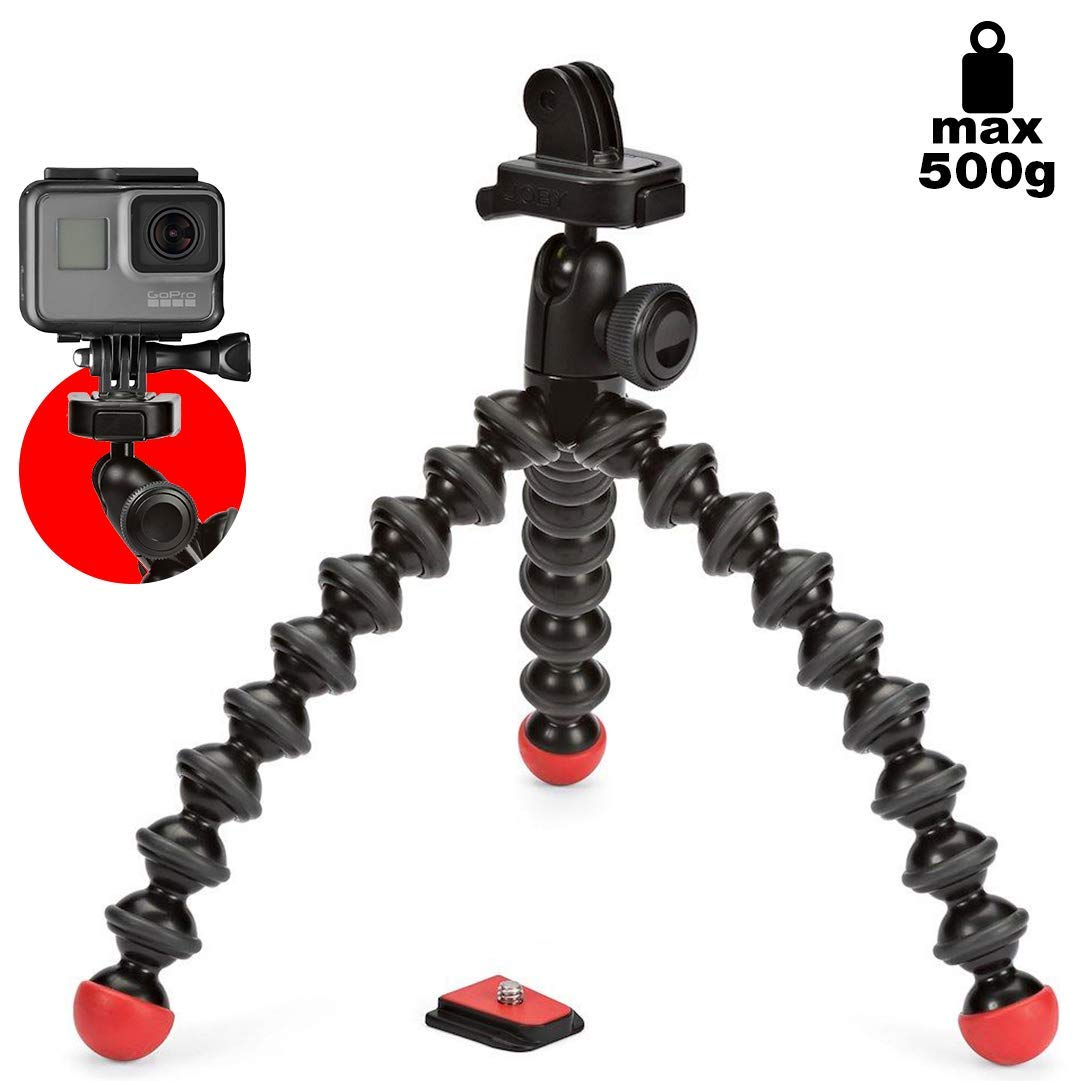 JOBY GorillaPod Action Video Tripod - A Strong, Flexible, Lightweight Tripod for GoPro HERO6 Black, GoPro  HERO5 Black, GoPro HERO5 Session, Contour and Sony Action Cam by Joby