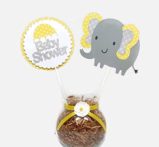Amazon Com Gender Neutral Baby Elephant Baby Shower Decorations