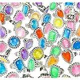 "144 Big Jewel Rings ~ 1"" Plastic ~ Princess Dress-up Diva - Play Kreative TM"