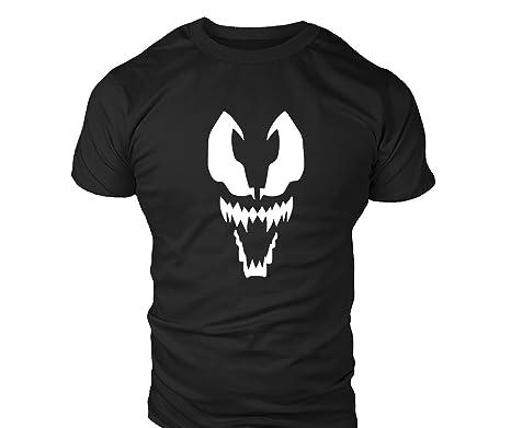 Camiseta deportiva informal Venom para hombre Negro Black T Shirt Medium