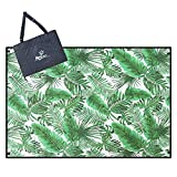Aoosborts Coconut Picnic Blanket Water Resistant, Beach Blanket Sand Proof, Wind Proof with Stakes,Machine Washable Outdoor Blanket Mat