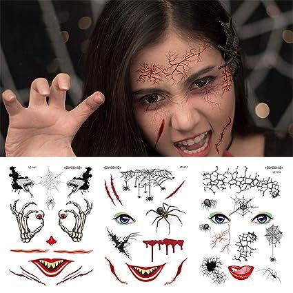 AAERP - Tatuajes decorativos para Halloween, diseño de cicatrices ...