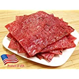 """Made to Order Fire-Grilled Oriental Pork Jerky aka Singapore Bak Kwa (Original Flavor) 3/4 pound - """"2013 Handmade Gift"""" by Los Angeles Times"""