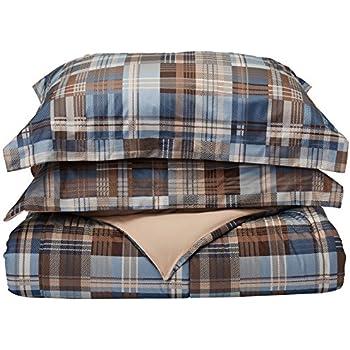 comforter bauer piece set kingston beautiful engaging cotton reversible plaid decorating bedding eddie