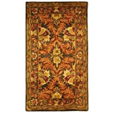 Safavieh Antiquities Collection AT54B Handmade Traditional Oriental Sage and Gold Wool Area Rug (2′ x 3′)