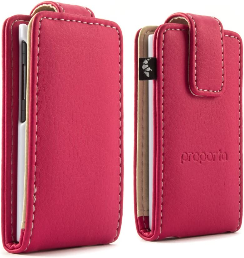 Proporta iPod Nano 7G Flip Tough Protective Case Cover Matte Faux Leather Style PU Pleather iPod Nano 7th genaration case Cover with Lifetime Exchange Warranty - Pink