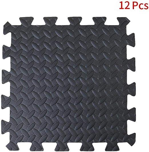 Yoga matting Interlocking Puzzle EVA Floor Tiles Non slip Rubber Cushion For Home Workout ComFy Mat Foam Exercise Mats Gym Flooring Mat Bonus Adhesives,24X24 60cmX60cm