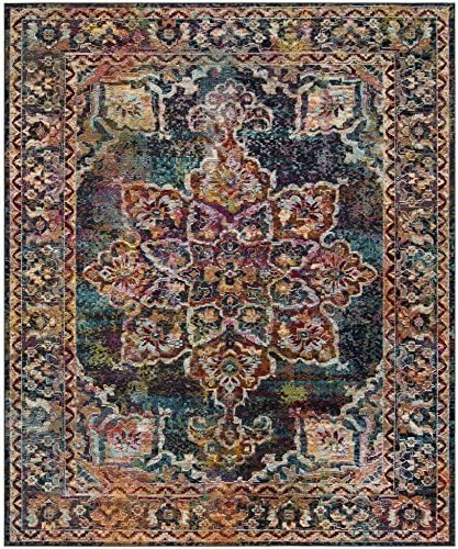 Safavieh Crystal Collection CRS513H Boho Chic Oriental Medallion Distressed Non-Shedding Stain Resistant Living Room Bedroom Area Rug Review