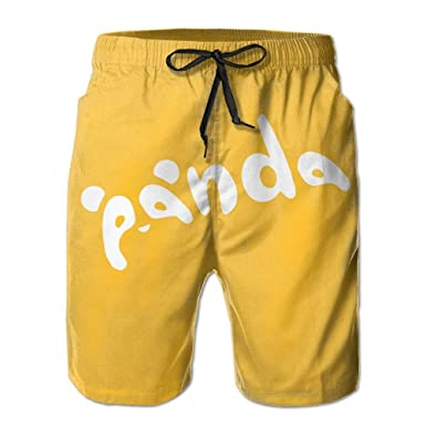 Beach Yoga Pants, Funny Panda Art Yellow Sexy Hot Shorts for ...