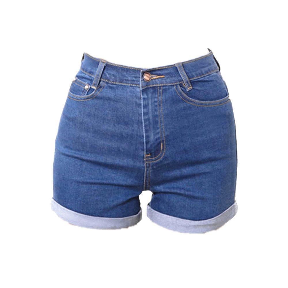 Miraclelove High Waisted Denim Shorts Slim Fit Jean Shorts for Women Juniors