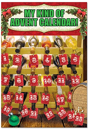Wine Advent Calendar Christmas Cards and Envelopes