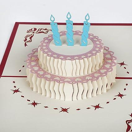 Amazon Paper Pop Up Birthday Greeting Cards Echeer Birthday