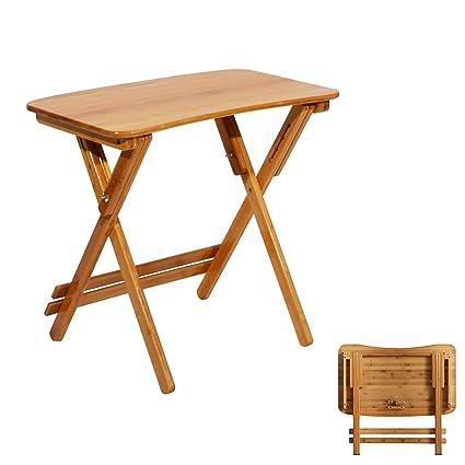 soges escritorios Mesa plegable de bambú Mesa de estudio ...