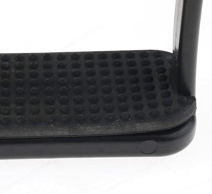Wuyee 1 par 96x90mm Estribos de Equilibrio amortiguadores para ni/ños Estribos para Montar Estribos de pisada Negro