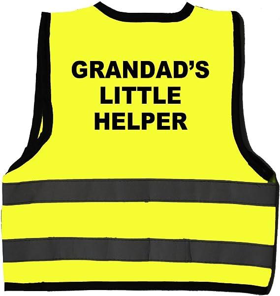 """Hi Visibility Baby Vest Printed /""""GRANDADS LITTLE HELPER/"""""""