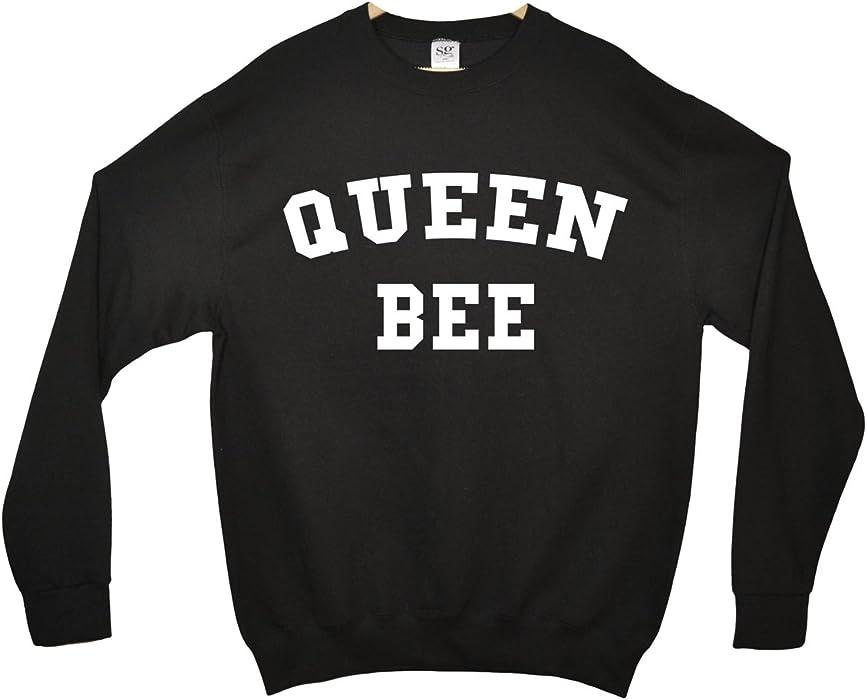 37d4c102 Minamo Queen Bee Sweatshirt - Black - Small (38-40 inches): Amazon.co.uk:  Clothing