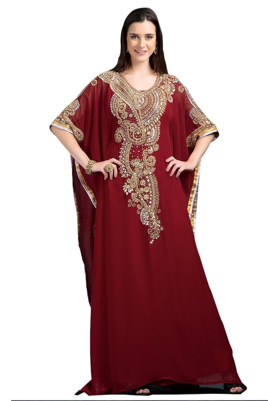 PalasFashion Women's Georgette Farasha party wear Kaftan - One Size