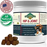 Natural Hip and Joint Supplement for Dogs in Bulk - Soft Chew Pain Relief & Prevention, Glucosamine For Dogs w/ Chondroitin & MSM for Healthy Canines, Made in USA (Large & Giant Dogs - 84 Count)