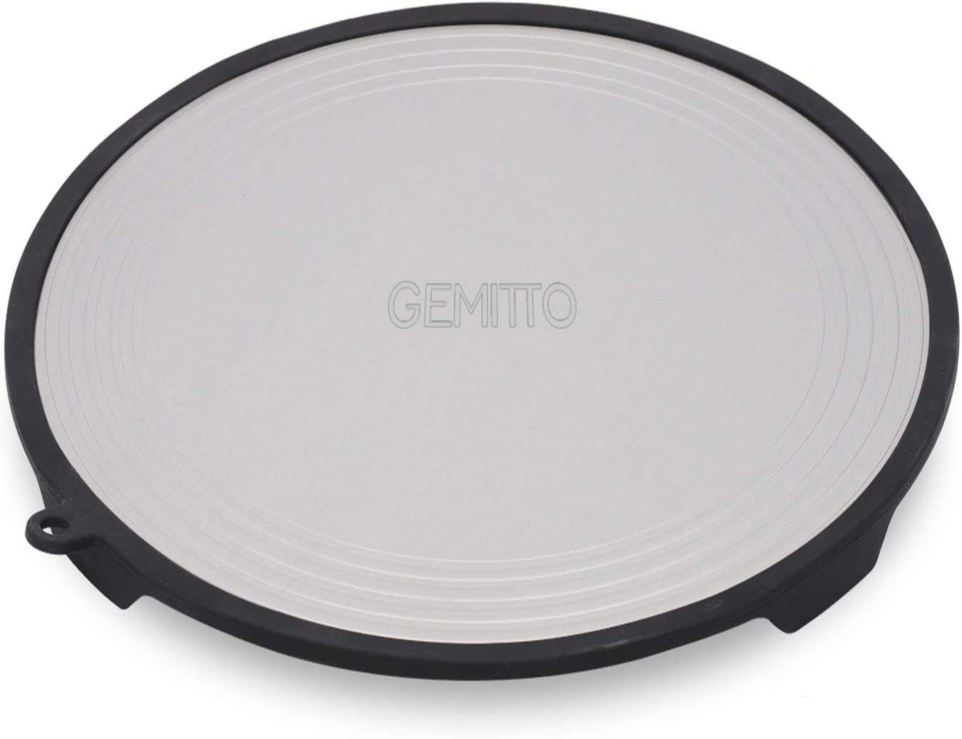 GEMITTO Round Fast Defrosting Tray, Multifunctional Aluminum Thawing Plate, Fast Heating for Stovetop, Ashes Protection for Pot, Quick Thawing for Frozen Meat (Silver, 11