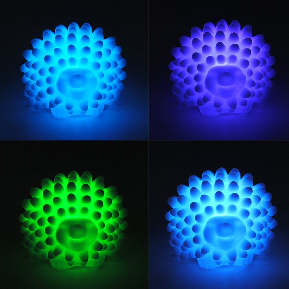 sala de estar guarder/ías cambiando de color Linda l/ámpara de luz de noche con forma de erizo LED para ni/ños Habitaci/ón infantil Luz nocturna luz de noche LED