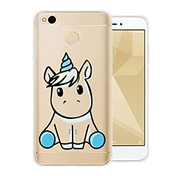 Funda para Xiaomi Redmi 4X Carcasa , YIGA Moda Un pony Caso Cristal Transparente Funda TPU Gel Cubierta De Silicona Suave Tapa Case Cover para Xiaomi ...