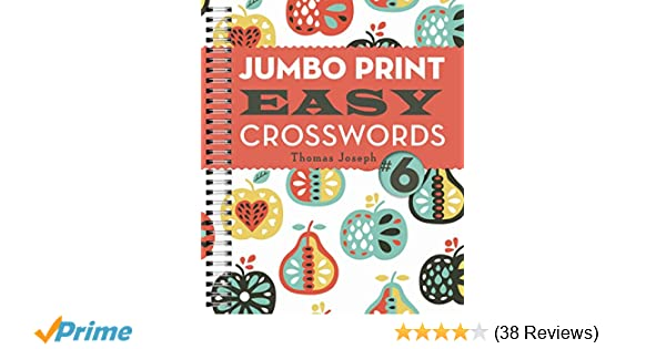 photograph regarding Thomas Joseph Crossword Puzzles Printable Free referred to as Jumbo Print Straightforward Crosswords #6 (Major Print Crosswords