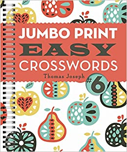 image about Thomas Joseph Printable Crossword known as Jumbo Print Basic Crosswords #6 (Weighty Print Crosswords