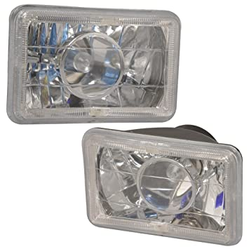 Amazon lights fit for 6x4 inch blue halo h4 bulb sealed beam lights fit for 6x4 inch blue halo h4 bulb sealed beam square projector headlight headlamp set sciox Image collections