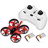 GoolRC T36 Mini RC Quadcopter Drone 2.4G 4 Channel 6 Axis With 3D Flip Headless Mode One Key Return Nano Copters RTF Mode 2 With Bonus Battery(Red)