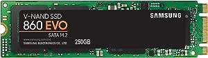 Samsung 860 EVO SSD 250GB - M.2 SATA Internal Solid State Drive with V-NAND Technology (MZ-N6E250BW)