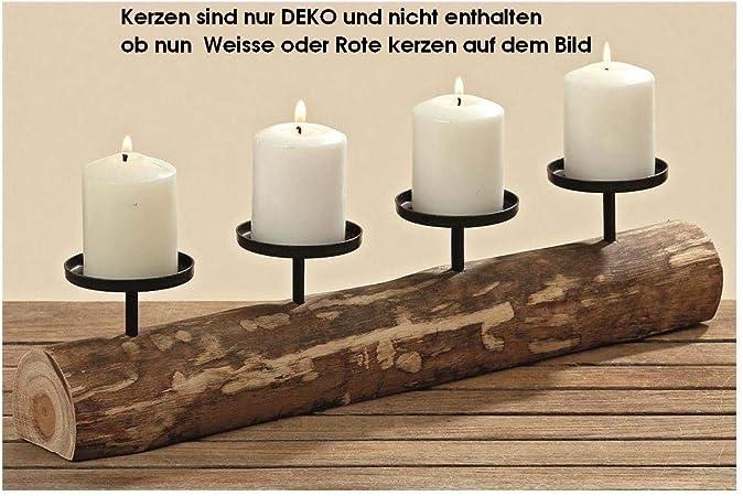 Farbe schwarz Kerzenhalter für 4 Kerzen Spetebo XXL Adventskerzenhalter 78 cm aus Metall