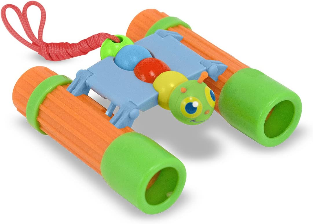 Melissa /& Doug Sunny Patch Giddy Buggy Binoculars 4 x 25 Magnifying Power