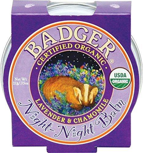 Badger Noche Noche Balsamo organico certificado Calmar Sweet Dream Balsamo Para 21g Ninos