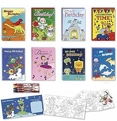 Amazon.com: Colorear Surtido de tarjetas de cumpleaños caja ...