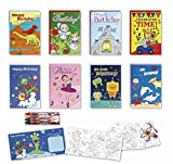Coloring Birthday Cards Box Assortment Set 8 Pack Kids Birthday Cards Bulk Birthday Cards For Kids With Crayons