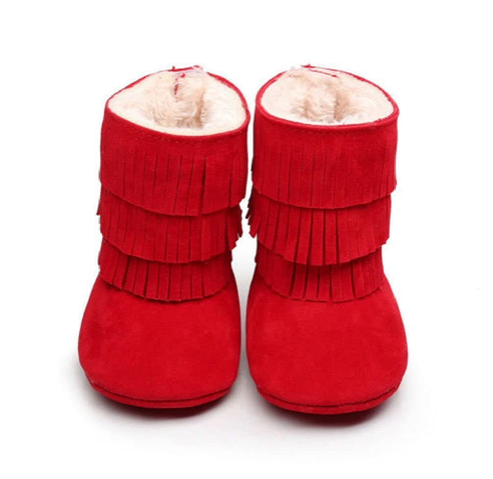 Cute Kids Baby Girl Winter Snow Boots Toddler Tassels Soft Sole Crib Shoes 0-18M Unbrand