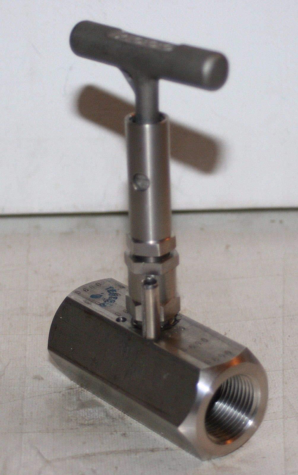 3/4'' NPT SS Needle Valve (6000 PSI @ 200F) Tyco Anderson Greenwood H7VIS-6Q-LAT-PD by 3/4'' NPT SS Needle Valve (6000 PSI @ 200F) (Image #2)