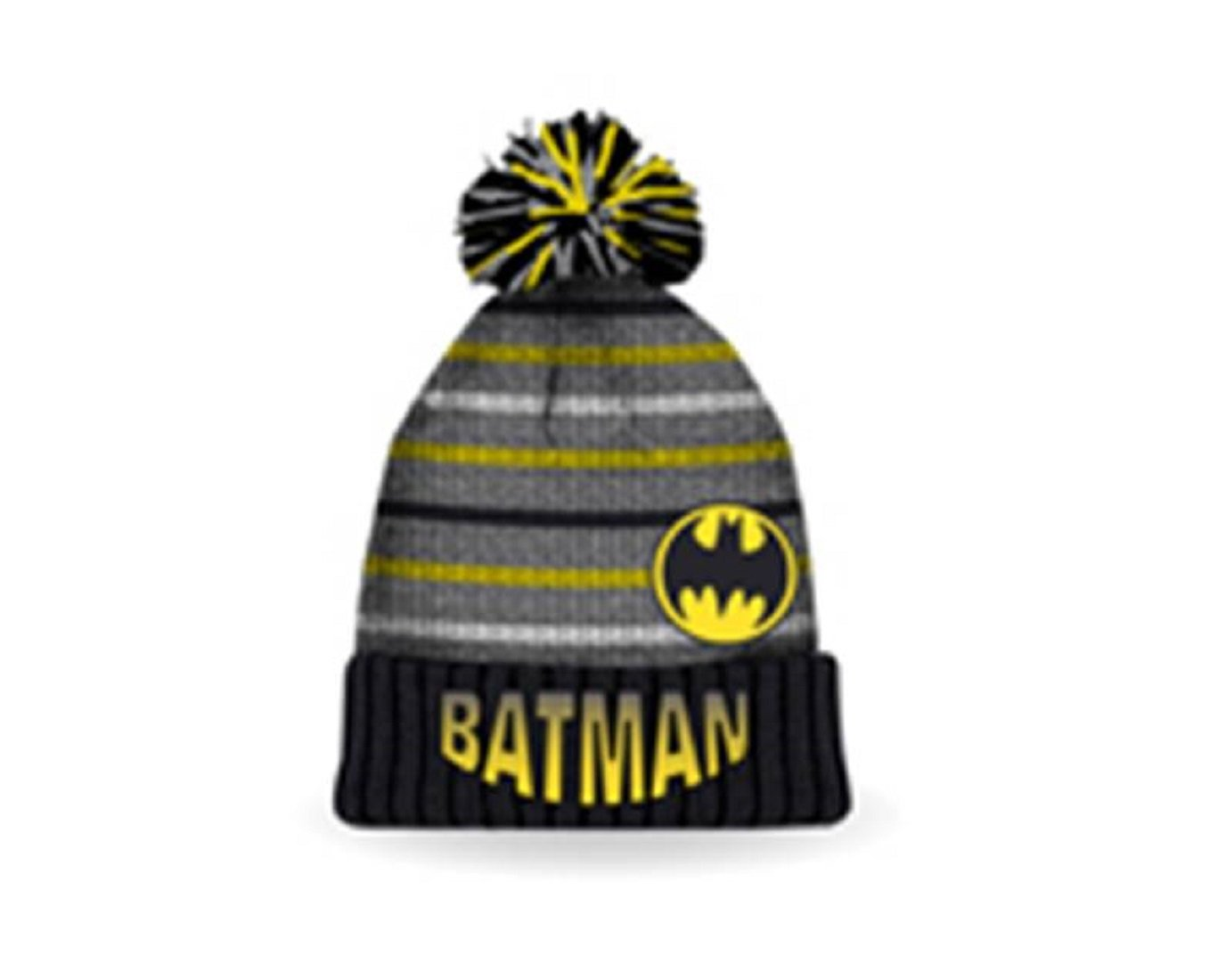 DC Comics Boy's Batman Heavy Knit Licensed Pom Pom Winter Hat Gertex