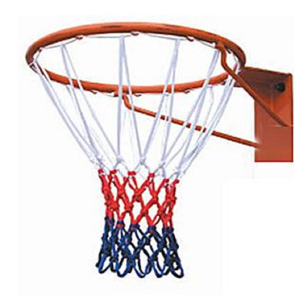 silfrae全天候型レッド、ホワイト/ブルーバスケットボールネット、アスレチックデラックススーパーBasketball Net – 12ループ B074SJK5HT  Thick