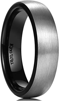 King Will Basic 8MM Titanium Ring Stainless Steel Brushed//Matte Comfort Fit Wedding Band for Men