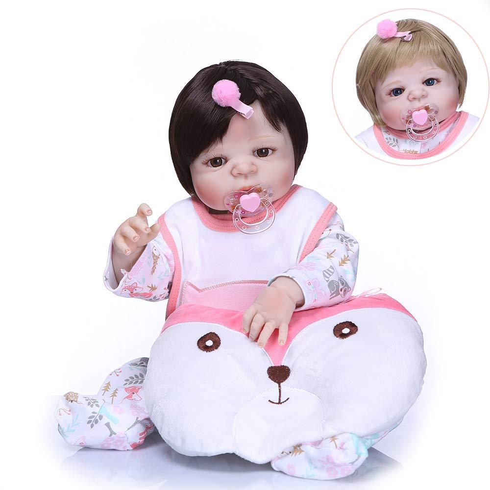 最愛 Pinky B07GFC276F 23インチ 新生児の人形 57cm 生きているようなリボーンベビードール フルボディ ソフトシリコン人形 リアルなルック リアルなルック 新生児の人形 ハンドメイド リアルタッチ かわいい人形 幼児 誕生日 クリスマスギフト B07GFC276F, ピアノベール:5e3155dd --- pmod.ru