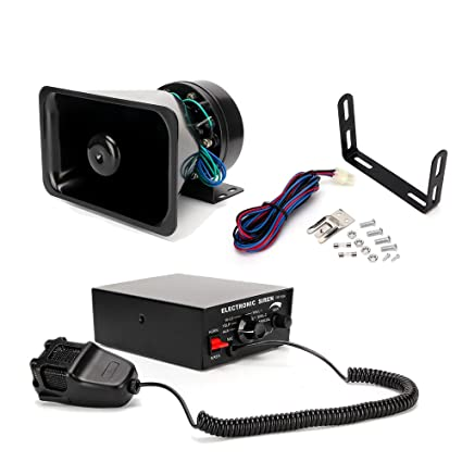 Amazon.com: FOXCID 100w 12v Loud Cuerno Sirena Kit Sistema Pa Coche 7 Tono Policía Bombero Camión de coches: Home & Kitchen