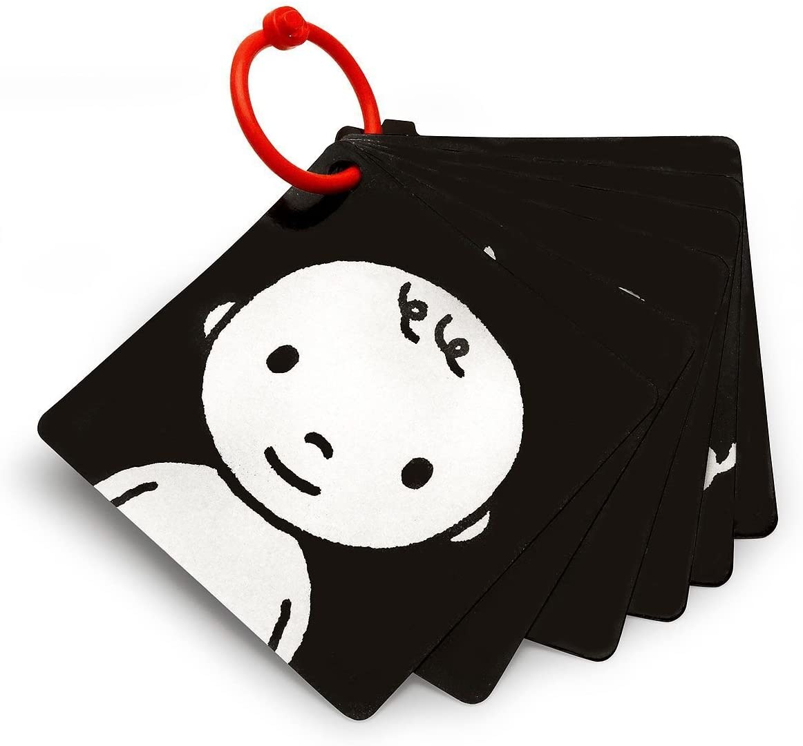 White /& Red Infant-Stim Clip Along High Contrast Flash Cards for Baby Black