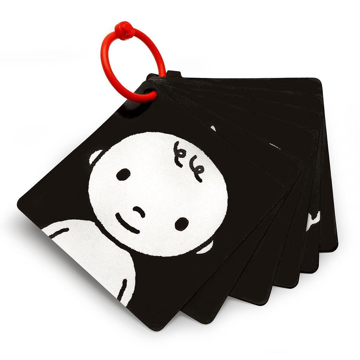 Black, White & Red Infant-Stim Clip Along High Contrast Flash Cards Baby
