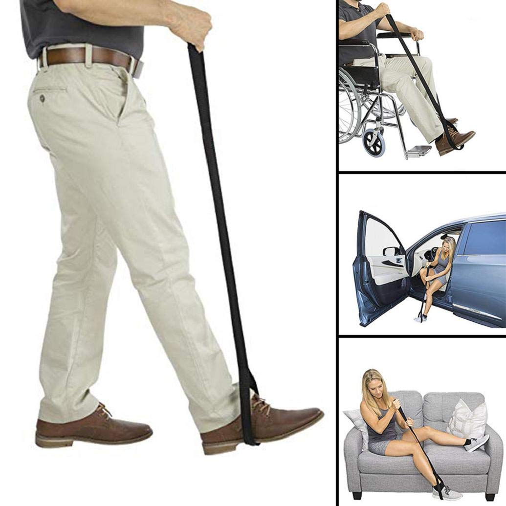 oldeagle Leg Lifter Strap, Rigid Foot Lifter & Hand Grip - Elderly, Handicap, Disability, Mobility Aids for Wheelchair, Bed, Car, Couch, Hip & Knee Replacement
