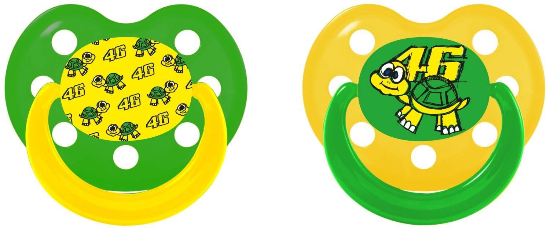 Set 2 2 chupetes niño Kid VR46 Valentino Rossi Tarta 46 ...